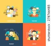 avatars design concept set with ...   Shutterstock .eps vector #278766485