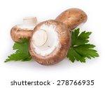mushrooms isolated on white...   Shutterstock . vector #278766935