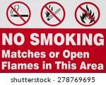 no smoking  matches or open... | Shutterstock . vector #278769695