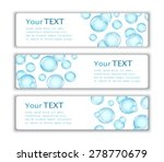 three business banner with... | Shutterstock .eps vector #278770679