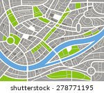 abstract city map illustration. ... | Shutterstock . vector #278771195