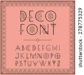 art deco style lettering in pink | Shutterstock .eps vector #278775329