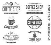 set of vintage labels  emblems  ... | Shutterstock .eps vector #278781839