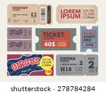 Tickets Collection In Vintage...