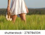 Relaxed Woman Legs Walking In...