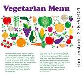 vegetarian menus of restaurants ... | Shutterstock .eps vector #278790401