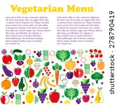 vegetarian menus of restaurants ... | Shutterstock .eps vector #278790419