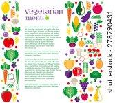 vegetarian menus of restaurants ... | Shutterstock .eps vector #278790431