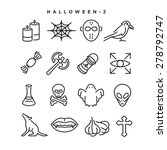 halloween vector icons.... | Shutterstock .eps vector #278792747
