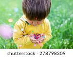Little Kid With Confetti