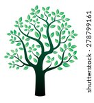 vector tree and green leafs. | Shutterstock .eps vector #278799161