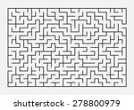 Vector Illustration Of Maze  ...