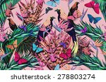 beautiful fashionable seamless ... | Shutterstock . vector #278803274