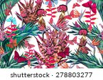 beautiful fashionable seamless... | Shutterstock . vector #278803277