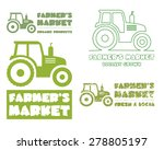 set of tractor logo template.... | Shutterstock .eps vector #278805197