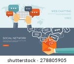 communication chatting.flat... | Shutterstock .eps vector #278805905