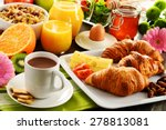 breakfast consisting of fruits  ... | Shutterstock . vector #278813081