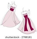 wedding dress design   back and ...   Shutterstock .eps vector #2788181