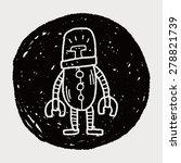 robot doodle   Shutterstock . vector #278821739