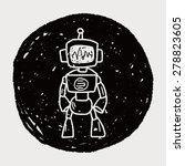 robot doodle   Shutterstock . vector #278823605