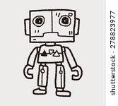 robot doodle | Shutterstock . vector #278823977