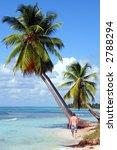 man walking along tropical...   Shutterstock . vector #2788294