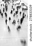 crowd of commuters in motion... | Shutterstock . vector #278833109