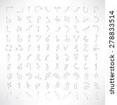 set of 100 thin line arrow... | Shutterstock .eps vector #278833514