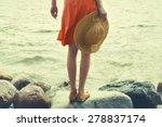 girl on the sea  instagram look   Shutterstock . vector #278837174