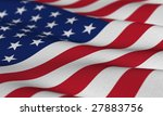 flag of the usa waving in the... | Shutterstock . vector #27883756