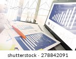 business documents on office... | Shutterstock . vector #278842091