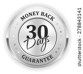 silver money back badge on... | Shutterstock .eps vector #278843141