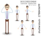 Businessman Cartoon Character...