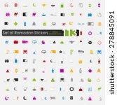 set of ramadan stickers   Shutterstock .eps vector #278845091