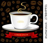 coffee cup vector  creative... | Shutterstock .eps vector #278849951