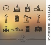 oil and gas modern icons for... | Shutterstock .eps vector #278851151