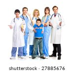 smiling medical people with... | Shutterstock . vector #27885676