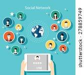 social network vector concept.... | Shutterstock .eps vector #278859749