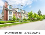 nice neighborhood on a sunny... | Shutterstock . vector #278860241