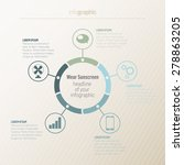 infographic  circle  5 elements | Shutterstock .eps vector #278863205