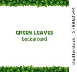 green leaves frame isolated on... | Shutterstock .eps vector #278863544