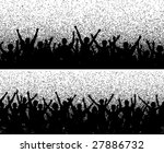 two crowd silhouettes with... | Shutterstock . vector #27886732