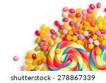 Colorful Confectionery On Whit...