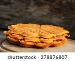 belgian waffles in open air
