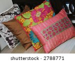 brightly colored pillows on a... | Shutterstock . vector #2788771