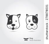 dog face icon set | Shutterstock .eps vector #278878031