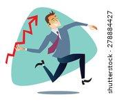 businessman throws up a... | Shutterstock . vector #278884427