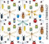 Watercolor Pattern Dragonflies...