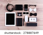 set of black and white... | Shutterstock . vector #278887649