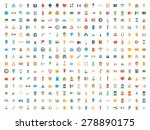 set of vector icons. flat... | Shutterstock .eps vector #278890175